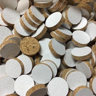 Rondelle de liège cal 20 - H 4 mm (10 pièces)